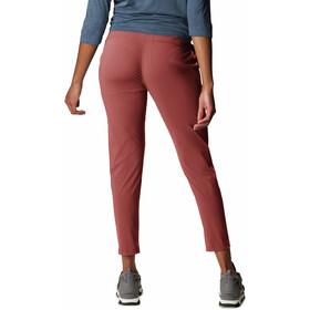 Mountain Hardwear Dynama Pantalones hasta el tobillo Mujer, rojo